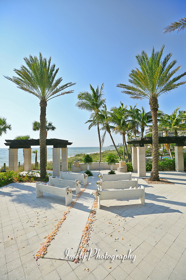 Intimate Ritz Beach Club Wedding Ceremony Reception On Lido Sarasota